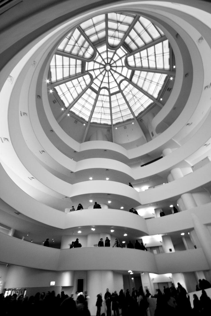 The interior of the New York City's Guggenheim Museum ...