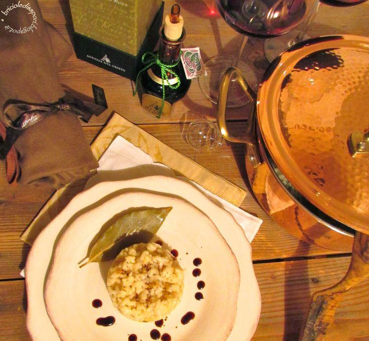 Briciole di Sapori: Risotto al Parmigiano reggiano e Aceto balsamico tradizionale di Modena D.O.P.