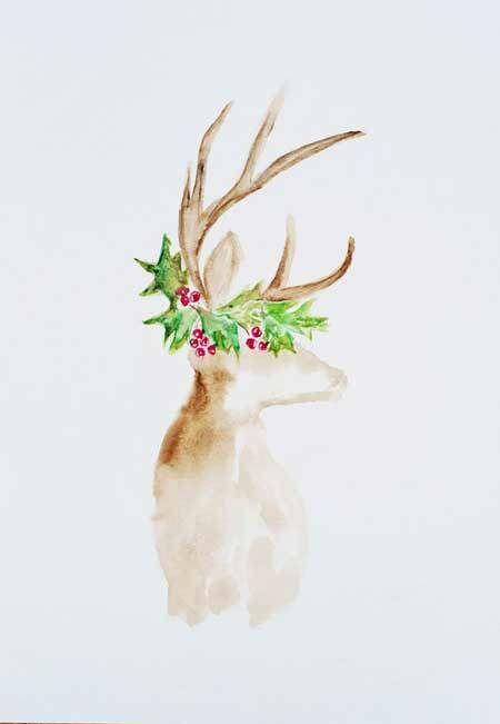 Acuarelas de Navidad para felicitar o adornar tu casa