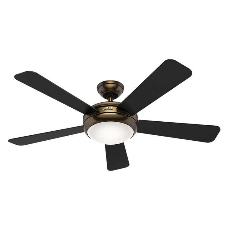 52 Black Ceiling Fan Sea Air 53060 Hunter Elrctrical Lighting Fans And