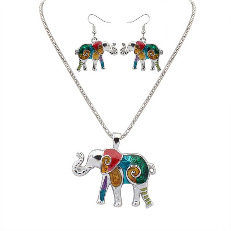 Find More Jewelry Sets Information about SNASAN Enamel elephant animail Jewelry Set Necklace Earings eardrop Set For Women Gothic style,High Quality set for women,China style set Suppliers, Cheap set necklace from SNASAN Retail Store on Aliexpress.com