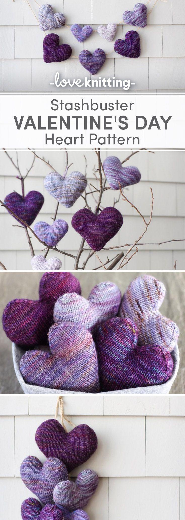 139 best Valentine\'s Day Knitting Patterns images on Pinterest