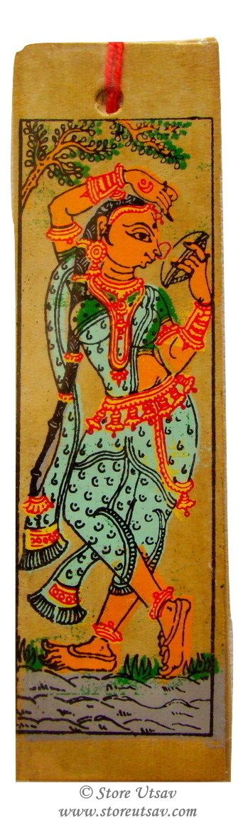 Bookmark Handmade Stationery A Young Girl Standing Indian