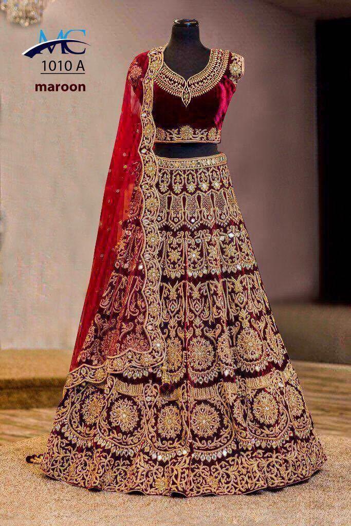 Clothing, Shoes & Accessories Women's Clothing Indian Party Wear Velvet Lehenga Choli Stylish Pakistani Wedding Sari Lehenga Attractive Designs;