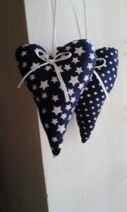 Sewing black hearts