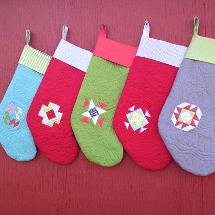 Christmas Sock Pattern: Mini Block Sock