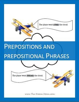 "Prepositions and Prepositional Phrases Worksheets-- notes, strategies for finding prepositional phrases, practice with ""imposters"" (infinitives), and a writing activity ($) #grammar"