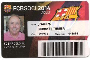 Serrat socio del Fútbol Club Barcelona.