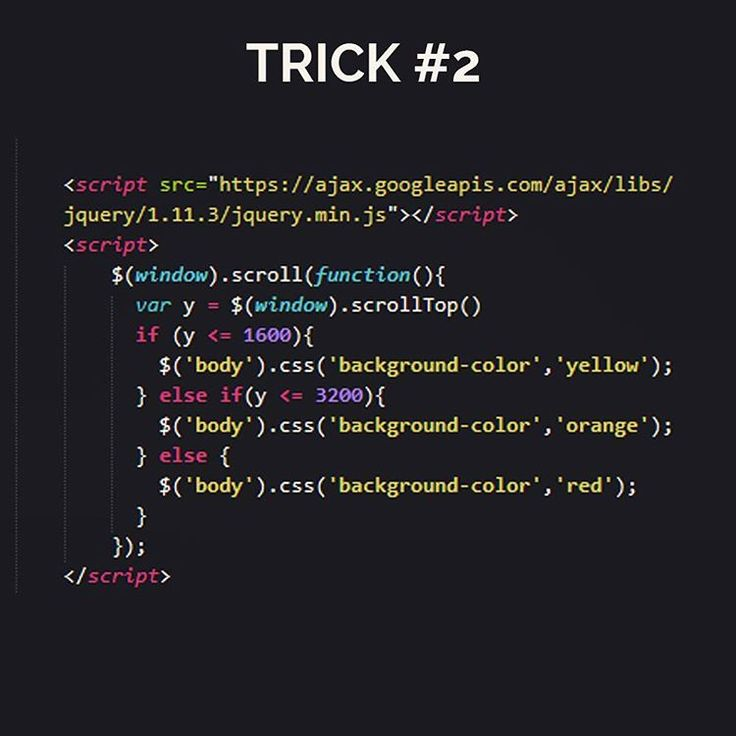 Let's play with a little jQuery trick Put this code before tag on your HTML code and let's see the magic. Scroll up and scroll down ! Tell me what you come up with  Happy code #python #html5 #webdeveloper #webdev #uxdesign #studywebdevelopment #development #office #worldofprogrammers #work #workspace #software #programming #programmers #ruby #gurudeveloper #love #mobile #rubyonrails #interface #buildtheweb #appdesign #isetups #developer #coding #JavaScript #worldcode