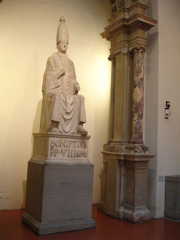 Кафедральный музей. Arnolfo da Cambio. Pope Bonifacio VIII 13th century.