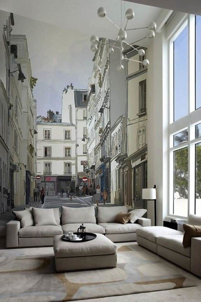 Decoration, Mural Wall Decorations For Living Room: Great Idea to Decorate a Large Wall at Home