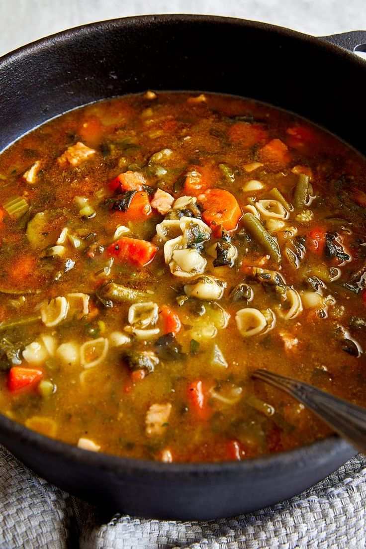Minestrone Soup - I made without bacon and with one can