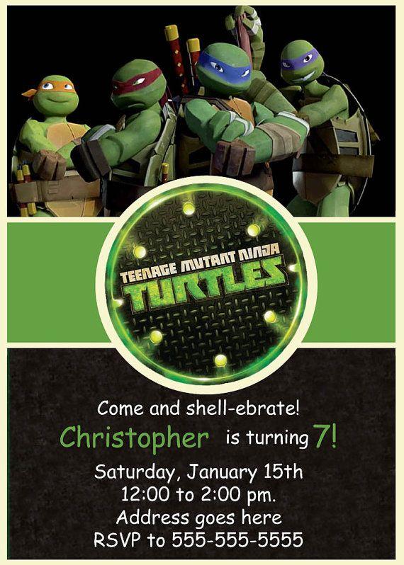 309 best images about ninja turtle party – Teenage Mutant Ninja Turtle Party Invitations