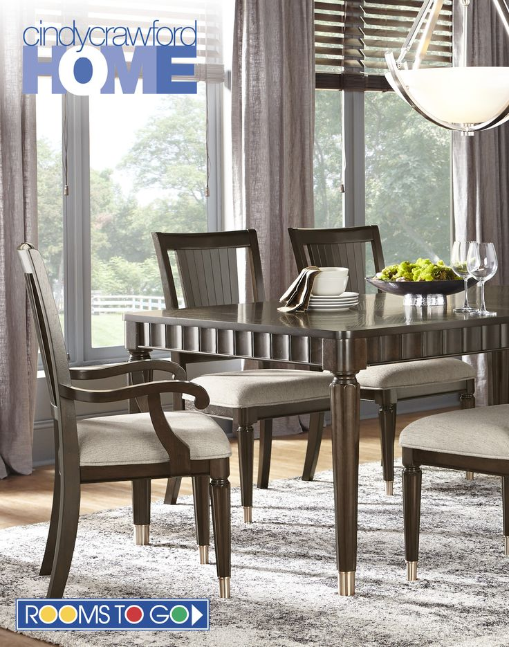 Cindy Crawford Home Michigan Avenue Brown 5 Pc Rectangle Dining Room