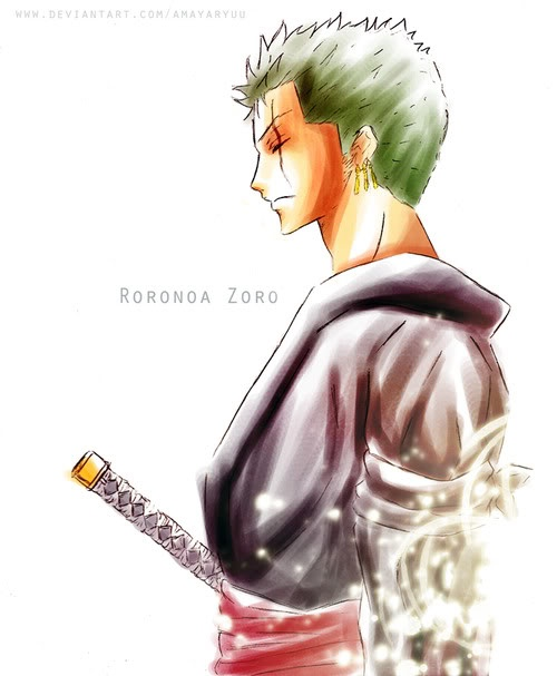 Roronoa Zoro art - beautiful. One piece.