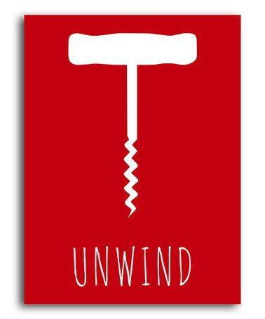 Red 'Unwind' Corkscrew Print by Heart of the Home #zulily #zulilyfinds