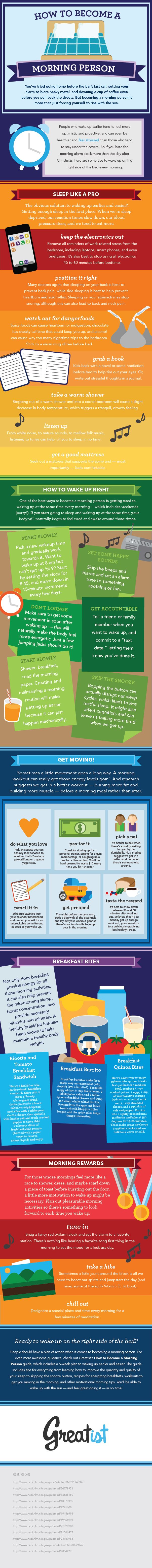 Yes, You Can Force Yourself to Become a Morning Person. Here's How. (Infographic)