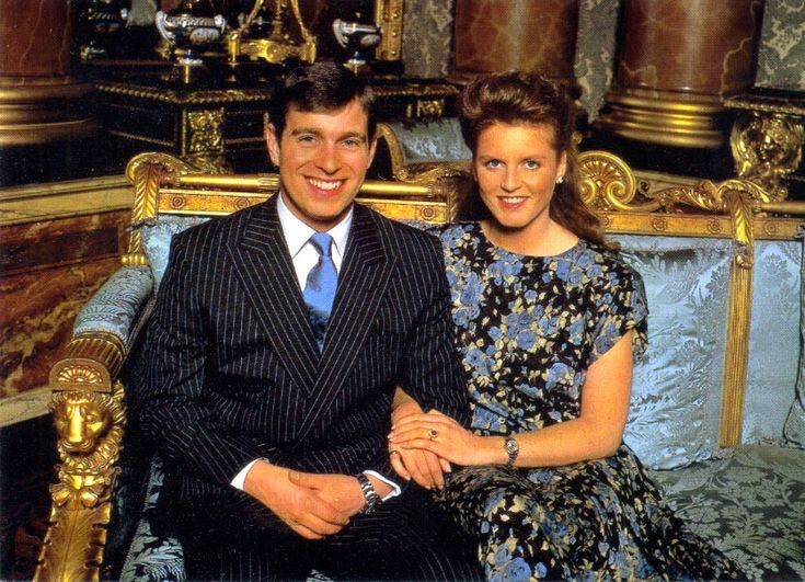 The photo below shows Prince Andrew and his wife, Fergie