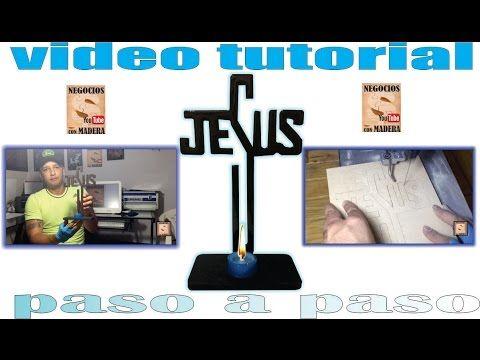 CRUZ JESUS EN CALADORA Y MDF, CON CAPA DE RESINA GEMELOS. PASO A PASO. - YouTube