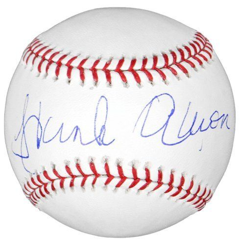 Hank Aaron Autographed Baseball - Steiner Sports Certified - Autographed Baseballs by Sports Memorabilia. $229.99. Hank Aaron Autographed Baseball - Steiner. Value will likely increase with time. All of our sports collectibles have passed a quality inspection evaluation, meanig you get a great looking piece at a great price. Since Hank Aaron rarely does signings, pieces with this signature are in high demand. High quality piece with hologram certification and Certificate of Authe...