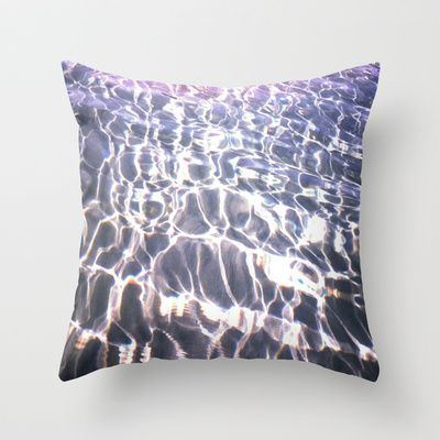 Lights into Water Throw Pillow by Aziza Vasco - $20.00