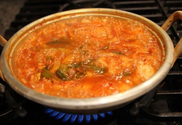 Spicy fermented cabbage stew (kimchi jjigae) and soybean sprout side dish (kongnamool): Korean Food, Sprouts Side, Side Dishes, Kimchi Stew, Stew Recipes, Kimchi Jjiga, Stew Kimchi, Korean Recipes, Kimchi Chiga