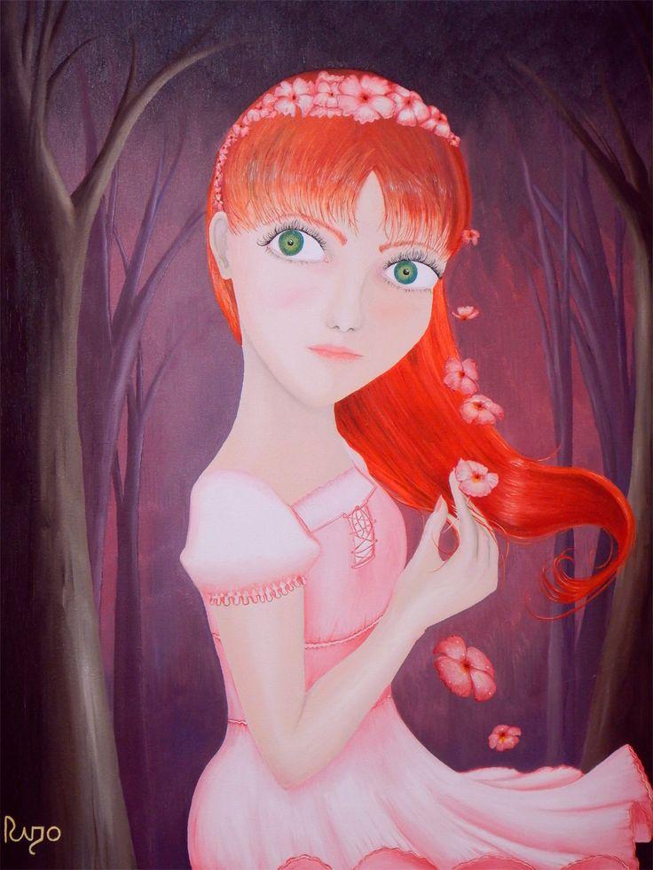 """Titulo: """"Chica Pelirroja""""  Autor: Rigoberto Castro """"Rigo-Art""""  Cuadro Decorativo al óleo.  Disponibilidad en: rigoyarte@gmail.com"""