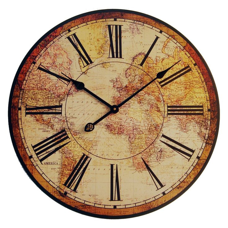 16 best antique clocks images on pinterest antique clocks antique world map clock face gumiabroncs Choice Image