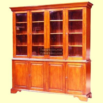 4 Doors Glass Bookcase Refrence : RBC 010 Dimension : 240 x 45 x 240 cm Material : #WoodenMahogany Finishing : #Custom Buy this #Bookcase for your #homeluxury, your #hotelproject, your #apartmentproject, your #officeproject or your #cafeproject with #wholesalefurniture price and 100% #exporterfurniture. This #4DoorsGlassBookcase has a #highquality of #AntiqueFurniture #WholesaleFurniture #FurnitureManufacturer #FurnitureWarehouse #ReproductionFurniture #GalleryFurniture