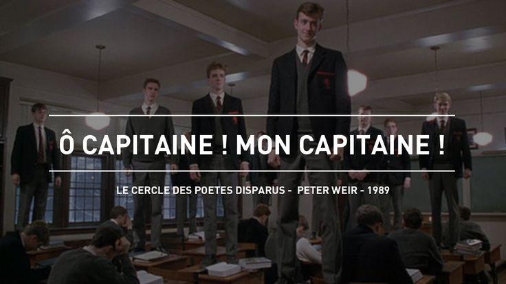 """""""Ô capitaine ! Mon capitaine !"""" entonnent les élèves de Robin William debout sur leur bureau dans """"Le Cercle des poètes disparus"""" réalisé par Peter Weir (1989)"""