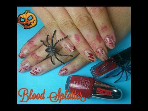 Video tutorial nail art per Halloween: unghie effetto insanguinato con cannucciaTutto Nail Art & Unghie | Tutto Nail Art & Unghie