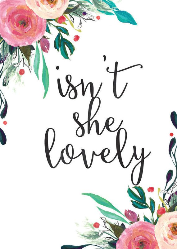 Nursery Quote art print wall decor Isn't she by TwoBrushesDesigns