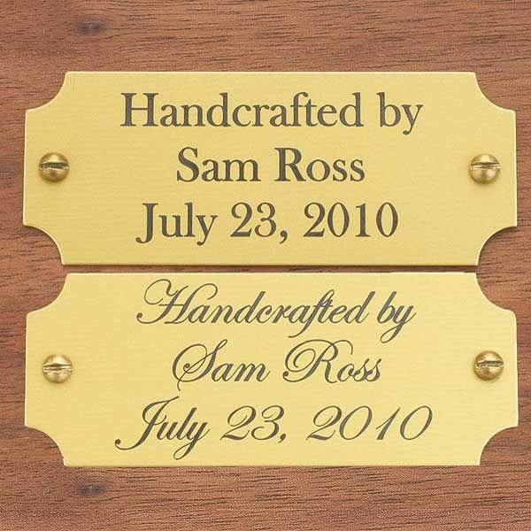 Brass Engraved Door Name Plates When someone want to learn about woodworking methods, look at http://www.woodesigner.net