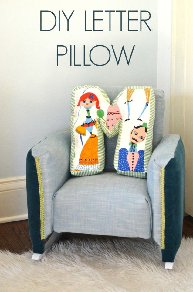 The cutest DIY Letter Pillow!! This easy DIY project is so cute an fun! Click for tutorial