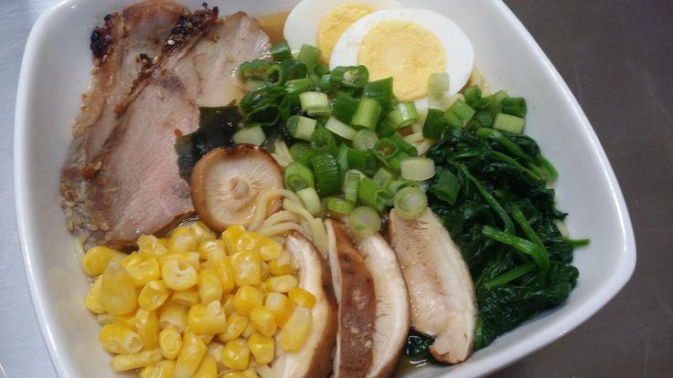 Miso Ramen with Roast Pork Egg and Veggies #mealprepping #OneSimpleChange #mealprep #healthy #mealplanning #healthyliving #food #weightloss #sunday