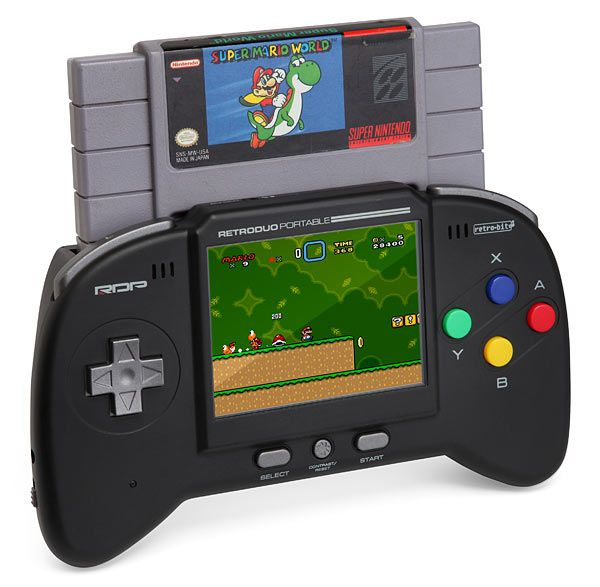 Retro Duo Portable NES/SNES Game System. This is seriously the greatest thing I've ever seen!!