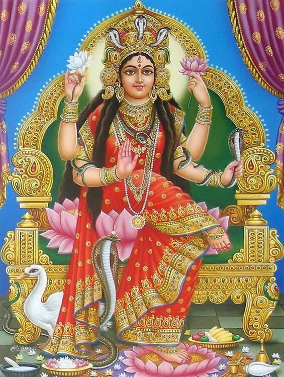 Manasa Devi - Snake Goddess (Reprint on Paper - Unframed))