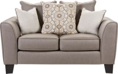 Bridgeport Taupe Loveseat. $368.00. 62W x 38D x 37H. Find affordable Loveseats for your home that will complement the rest of your furniture. #iSofa #roomstogo