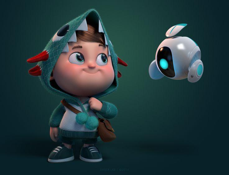 boy-robot-personnage-3D                                                                                                                                                                                 Plus