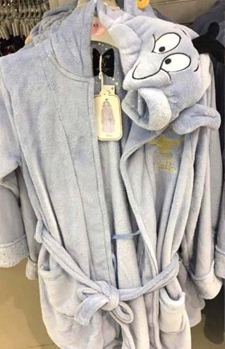 Primark Ladies Disney Genie Dressing Gown Hooded Bathrobe Bath Robe