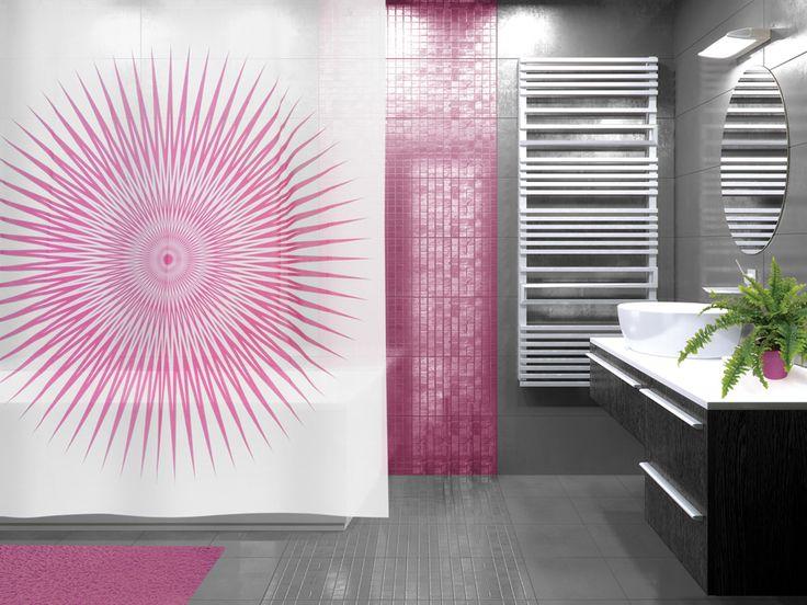WESS Mistilight - занавеска для ванной комнаты из пластика 180х200 см. Цена 850р. Посмотреть на сайте: http://likemyhome.ru/catalog/shtorki-karnizy-kolca/00003178 #likemyhome #showercurtain #bathroomdecor #interiorstyle #wess #mistilight