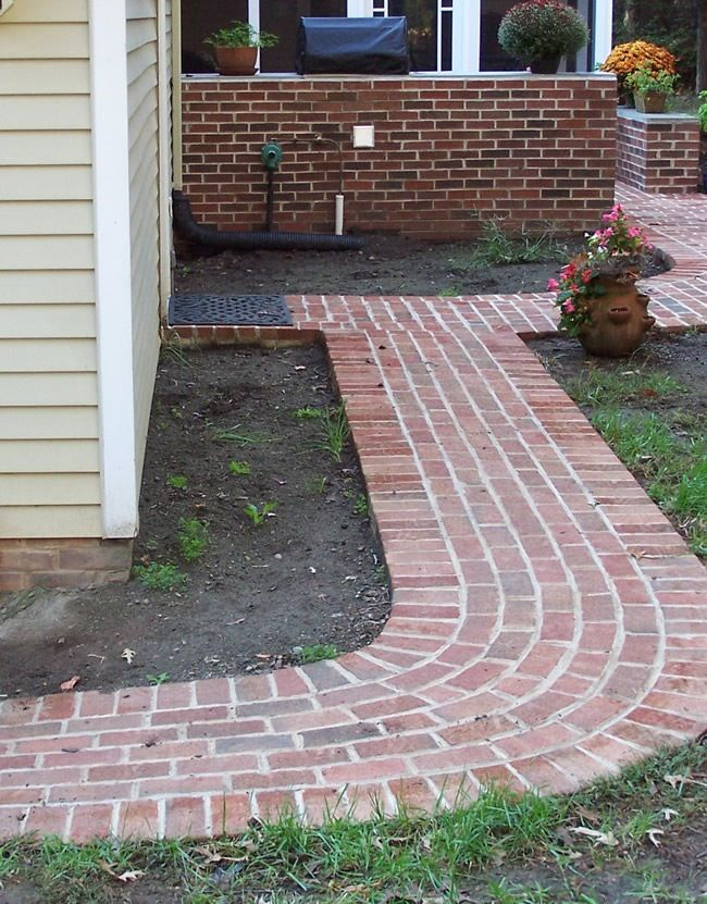 I'm getting ready to do a new brick walkway to my front door and this will probably be my pattern.