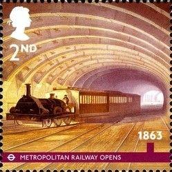 Stamp: London Underground - 1863 (United Kingdom of Great Britain & Northern…