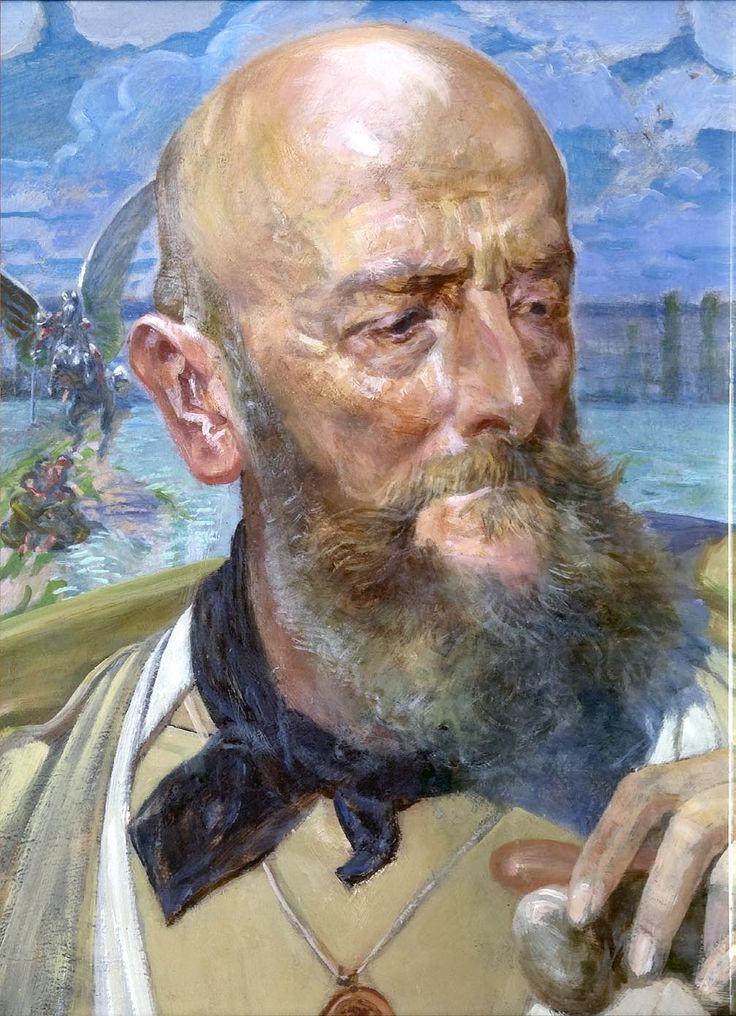 Jacek Malczewski (1854 - 1929).   Portret Piotra Hubala Dobrzańskiego,ok.1914, olej, tektura