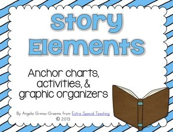 If you're teaching your students about story elements, this 62 page unit will give you tons of resources that can be used with any fiction book. Inside you will find:Anchor Charts for author, illustrator, and parts of the book 3 different sets of anchor charts for character, setting, problem, solution and retelling.