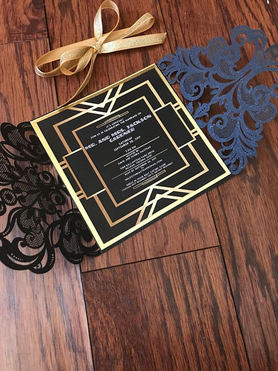 The Great Gatsby Invitations In 2018 The Great Gatsby Pinterest