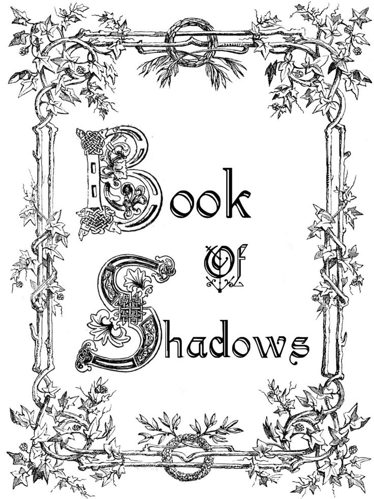 Title Page Book of shadows Pinterest Design Plants