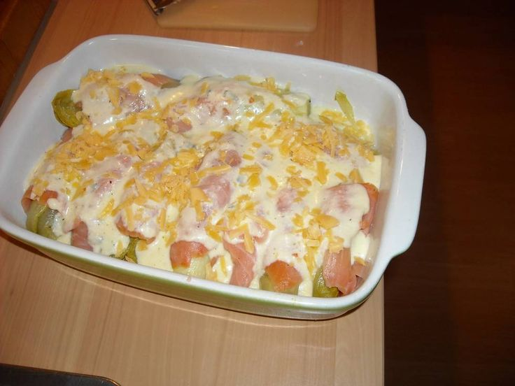 Romige Witlof In Gerookte Zalm ( Ovenschotel ) recept | Smulweb.nl