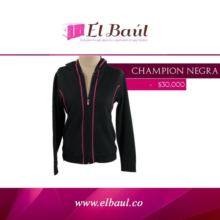 Champion chaqueta negra  $30,000 http://elbaul.co/Productos/2006/Champion-chaqueta-negra-