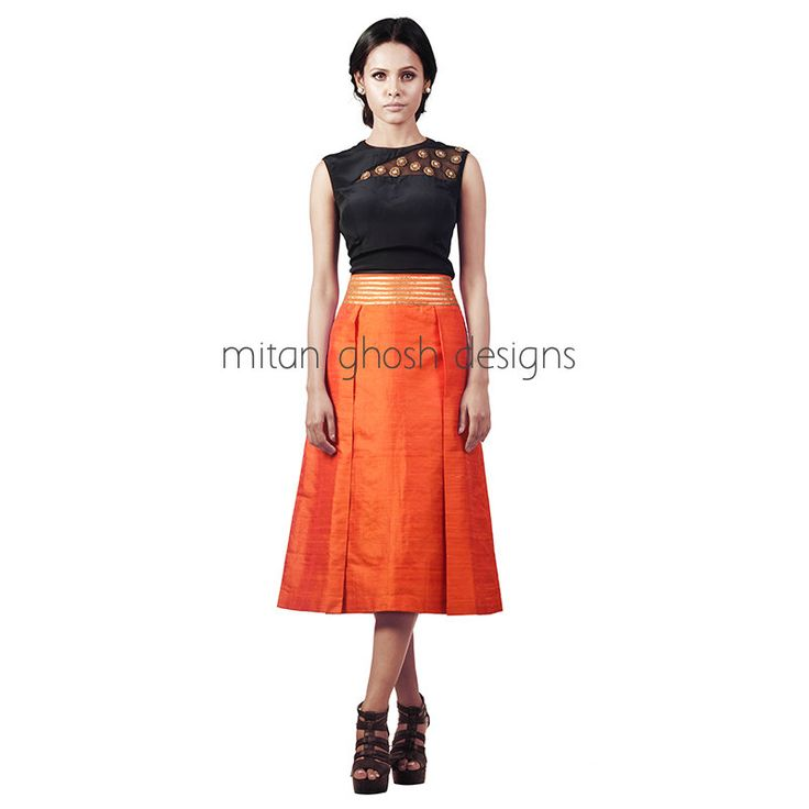 Raw silk Skirt with crepe top. 41 best Mitan Ghosh Designs Collection images on Pinterest
